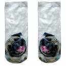 ingrosso Ingrosso Abbigliamento & Accessori: Motive calze bianche cane pug