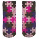 Motif socks multicolor puzzle