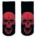 Großhandel Strümpfe & Socken: Motiv Socken schwarz weiß Horror Schädel