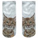 Motive socks white lynx cat