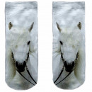 Motive socks white horse mold