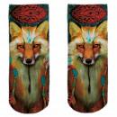 Motif socks multicolor fox casual