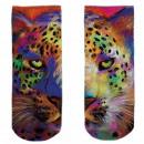 Motif socks multicolor leopard colorful