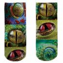Motive socks multicolor reptile eyes