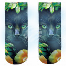 Motive socks multicolor cats floral