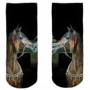Motive socks black white horse