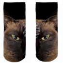 Motive socks black and white cat