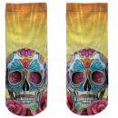 Motive socks multicolor skull psychedelic