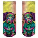 Motif socks multicolor dachshund colorful