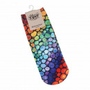 Großhandel Strümpfe & Socken: Motiv Socken multicolor Steine bunt