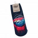 Großhandel Strümpfe & Socken: Motiv Socken multicolor Mund Zunge