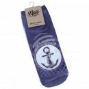 Motive socks anchor waves maritime violet purple