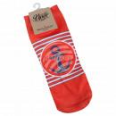 Motive socks anchor stripes maritime red