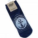 Motive socks anchor stripes maritime dark blue