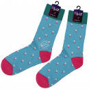Motif socks extra long triangles turquoise