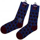 bordeaux motif socks extra long polygons