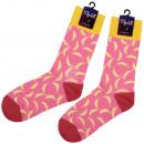 calzini Motif extra lunghi banane rosa