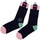 wholesale Stockings & Socks: Motif socks extra long black Digits