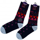 wholesale Stockings & Socks: Motif socks extra long black pattern