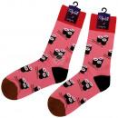 Motif sokken extra lange roze Sushi