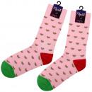 ingrosso Ingrosso Abbigliamento & Accessori: extra lungo rosa  calzini motivo anguria