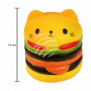 Squishy Squishies burger cat yellow multicolor
