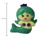 Squishy Squishies mermaid green about 10 cm