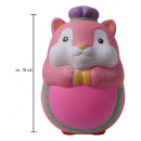 Squishy Squishies hamster pink about 16 cm