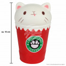 Squishy Squishies Cappuccino Cat red about 15 cm