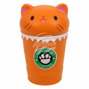 Squishy Squeeze Cappuccino Katze orange ca. 15 cm
