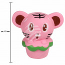 Squishy Squishies Mouse pink about 13 cm
