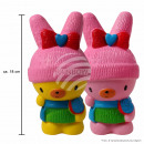 Squishy Squishies bunny with winter clothes pink a