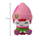 Squishy squishies girl with winter clothes pink