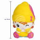 Squishy squishies girl with winter clothes yellow