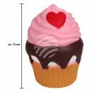 Squishy Squishies Cupcake lichtbruin ca. 13 cm