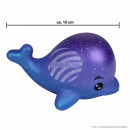 Squishy Squishies whale galaxy blue about 15 cm