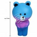Squishy Squishies mają kolor niebieski około 14 cm