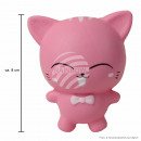 grossiste Jouets: Squishy Squishies chat rose environ 8 cm