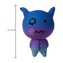 Squishy Squishies Voodoo cat blue ongeveer 10 cm
