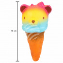 Squishy Squishies ice cream cone with bear head br