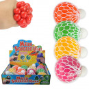 Squishy Mesh Squeeze Balls Gel LED 12er Display