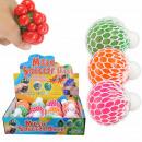 Squishy Mesh Squeeze Balls Gel Display 12 Stück