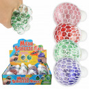 wholesale Toys: Squishy Mesh Squeeze Balls Glitter Display