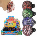 Squishy Mesh Squeeze Ball Glitter Display 12 Piece