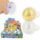 wholesale Toys: Squishy Mesh Squeeze Balls LED Glitter Display