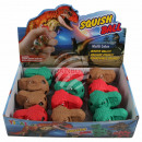 wholesale Toys: Squishy Mesh Squeeze Ball Display Dinosaur