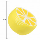 Squishy Squishies lemon yellow white about 10 cm