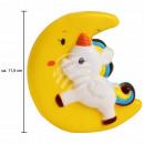 Squishy squishy unicorno con luna gialla multicolo