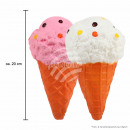 Squishy Squishies Ice Cream light brown white
