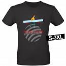 Motiv T-Shirt Shirt Abstand halten Lineal Schwarz